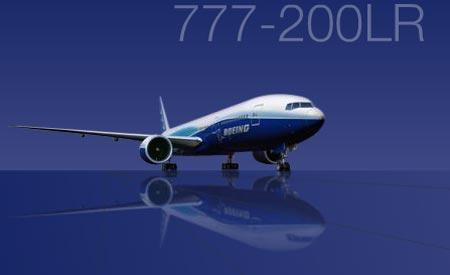世界航程最远的民用飞机波音777-200lr正式下线