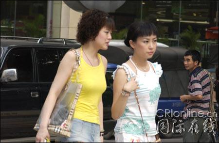 打望重庆街头美女组图3 重庆 北方网