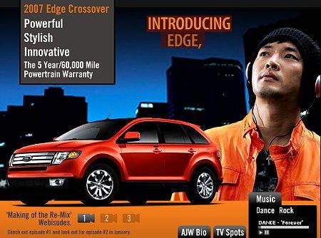 韩国影视歌明星安在旭为美国福特汽车代言