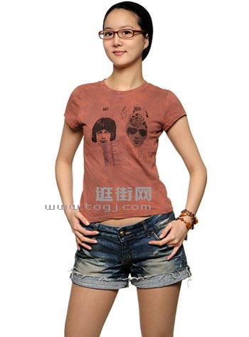 服装 涂鸦T恤 淑女也疯狂 组图