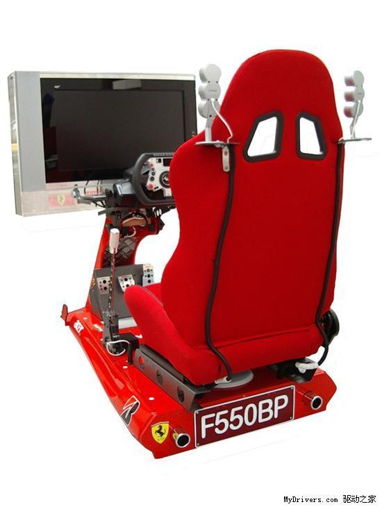 痴迷游戏玩家改装法拉利赛车模拟套件 组图高清图片