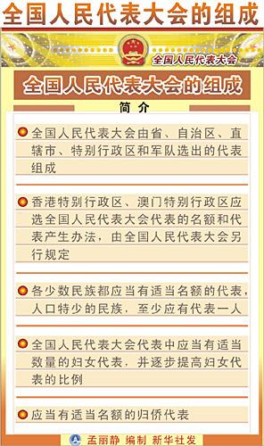 全国人民代表大会代表团的组成、职责和权利