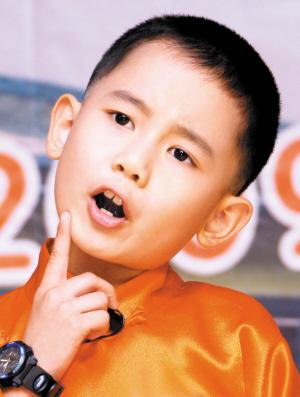"""天津又出""""名小孩儿"""" 9岁男童名片赛明星(图)"""