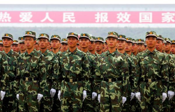 武警部队举行国庆安保暨维稳誓师大会 组图图片