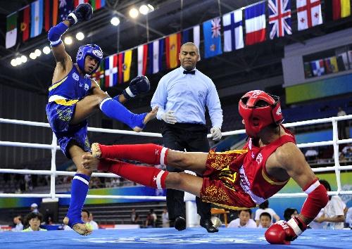 图文:武搏会泰拳1\/4决赛 泰国选手实力很强-图