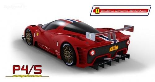 f1赛车的量产版 法拉利p4 5赛车版车型效果图曝光高清图片