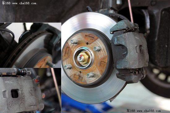 前通风式刹车盘与来自重庆红宇精工提供的卡钳相配合