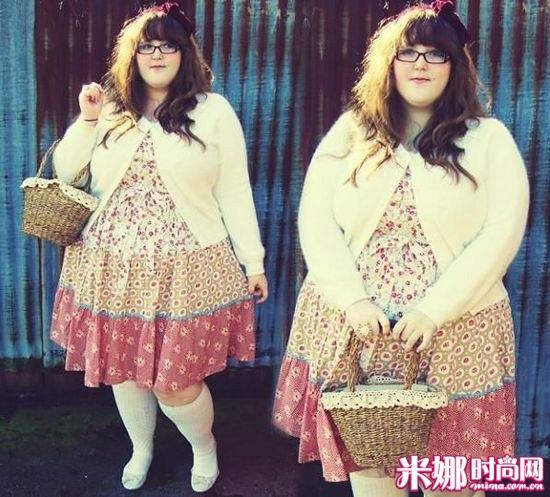 微胖女孩婚纱照_200斤胖女孩 超强萝莉系穿搭 ...