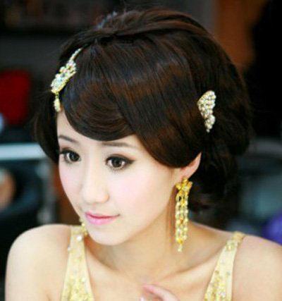 五款复古新娘出嫁造型 将中式传统浪漫进行到底图片