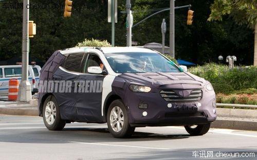 2013款现代圣达菲谍照-全新圣达菲纽约车展发布 预计明年上市高清图片