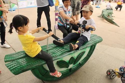 幼儿园轮胎装饰图片