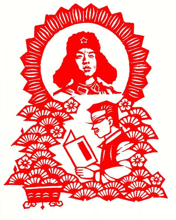 剪纸弘扬志愿服务 巧手传播精神文明