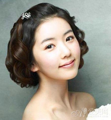 俏丽新娘短发发型 打造简约浪漫气质
