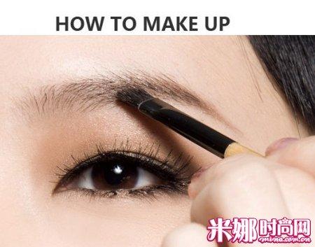 这样画眉毛 变身韩剧女主角|眉毛|眉笔|步骤_中国服装