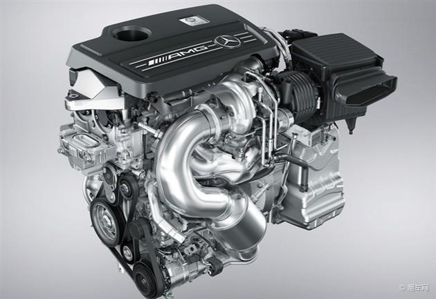 奔驰a45 amg的2.0升涡轮增压发动机,还要高出25 kw.与之匹高清图片