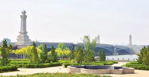 春意桥基本完工 将缓解快速路海津大桥交通压力 - 路桥建设 - 天津市市政工程研究院