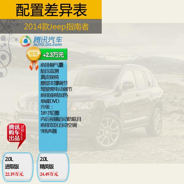 改款Jeep指南者购车手册 荐2.4L四驱舒适型高清图片