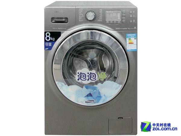 """三星wf1802xey/xsc滚筒洗衣机拥有超大洗涤容量,滚筒内有丰富的""""泡泡"""