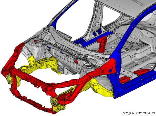 第九代雅阁采用的ace承载式车身结构.