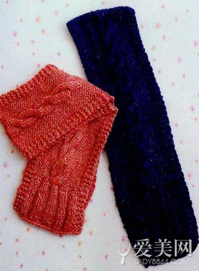 休闲宽版围巾的织法图解