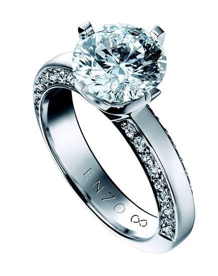 enzo88钻石戒指高清图片