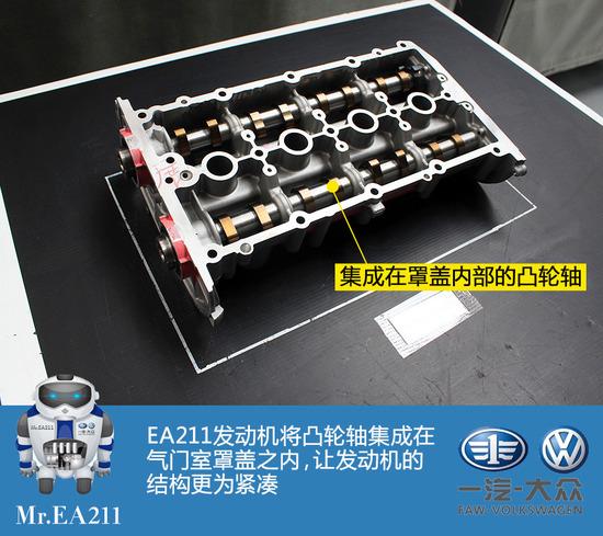 国产车型新动力 大众EA211发动机探秘高清图片
