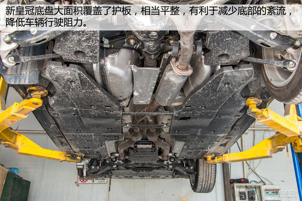 一切只为舒适丰田新皇冠底盘实拍解析-汽车新地-北方