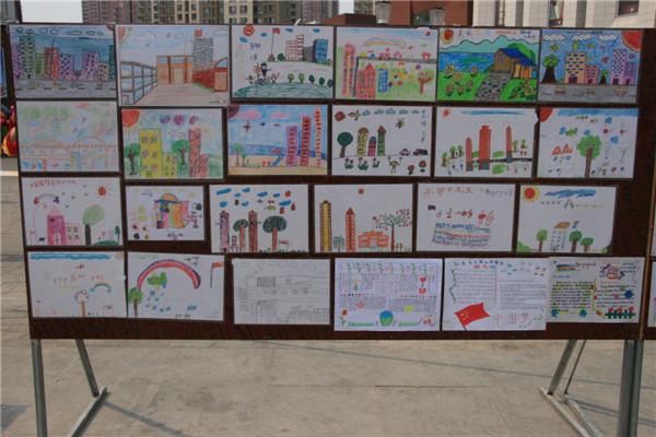 我的美丽家乡儿童画高清图片