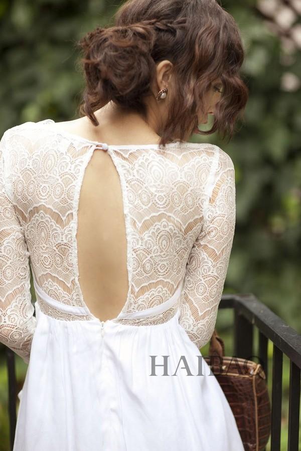婚纱的别致后背设计