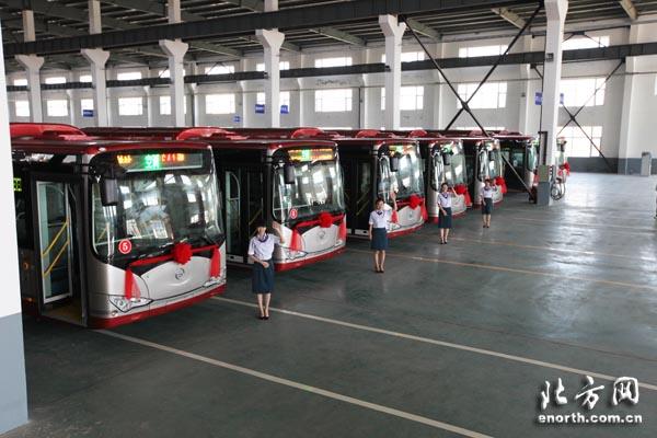 比亚迪股份有限公司在津合资建设的新能源客车产业化基地落于高清图片