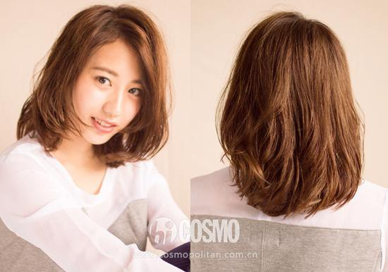 头发头像女生背面