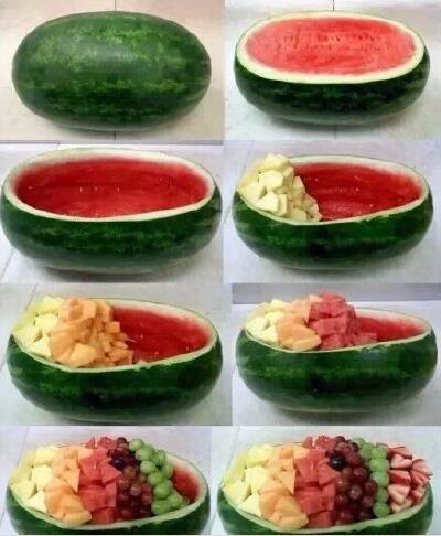 西瓜超级大大大水果拼盘-告诉你如何把西瓜吃出新高度图片