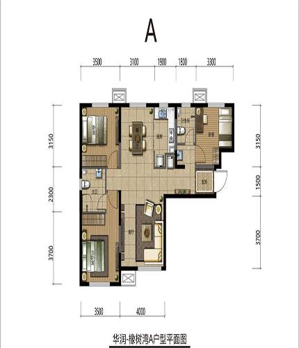 建築面積89平米戶型圖