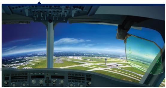 2016年, 130多架飞机配备了平视显示器,泰雷兹因此巩固了其在中国