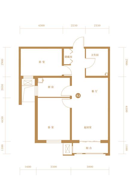 建筑面积89平米户型图