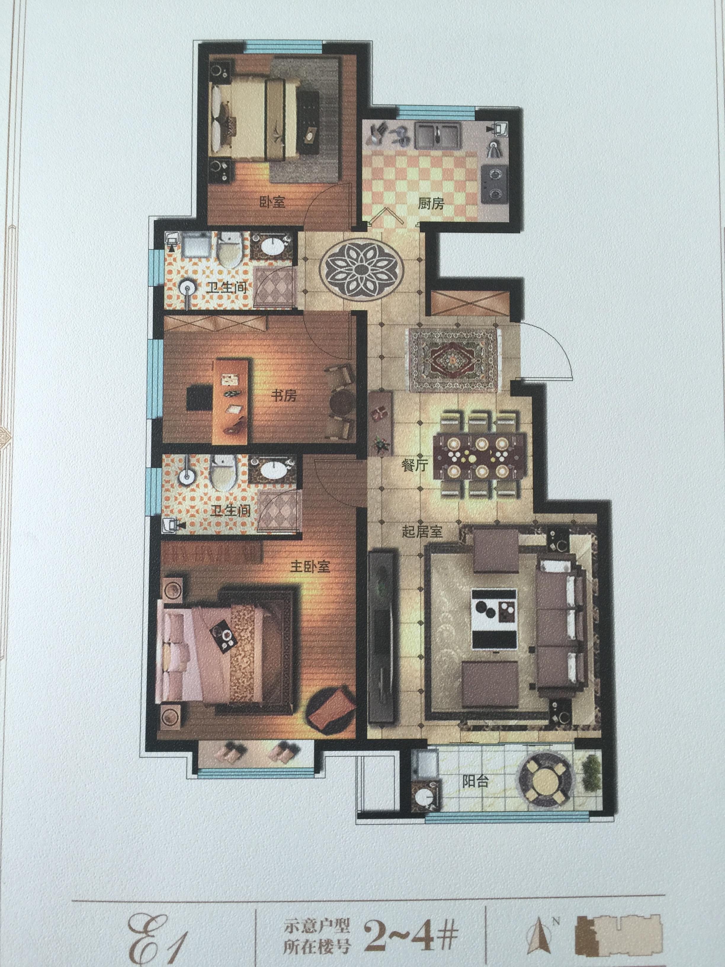 建筑面积152平米户型图