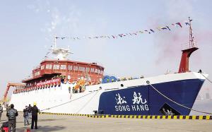 """3000吨""""淞航""""号拟7月底交付 配备五个实验室"""
