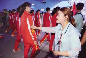 全运会展演志愿者胡家美 这是人生中难得的历练