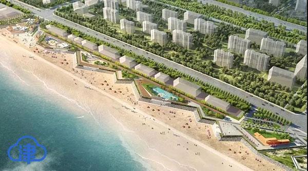 看海去!东疆东部沿海岸线工程开工 打造城市沙滩广场