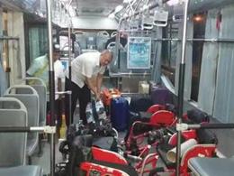 无障碍公交车完成残运会保障任务