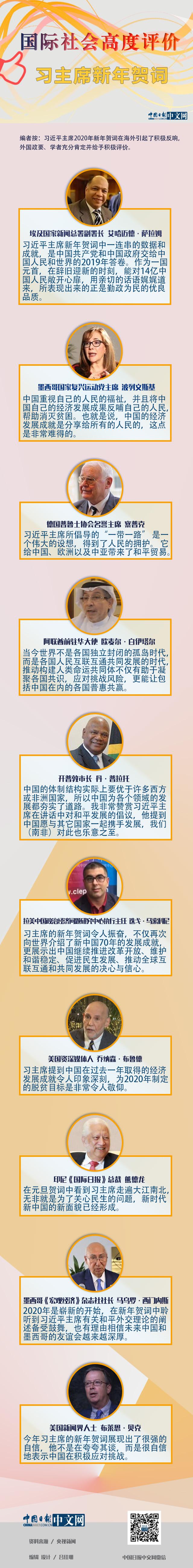 圖解 | 國際社會高度評價習主席新年賀詞