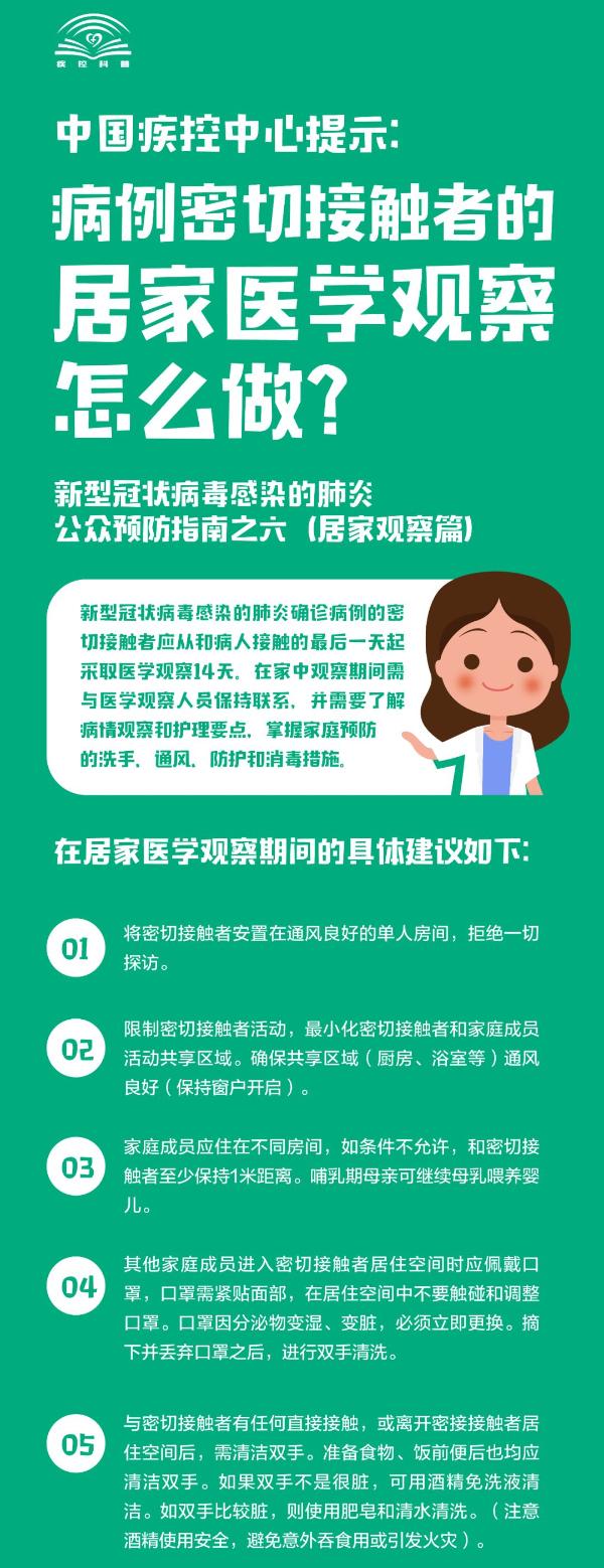 【新型冠状病毒科普知识】(十四)居家医学观察,防护别掉以轻心