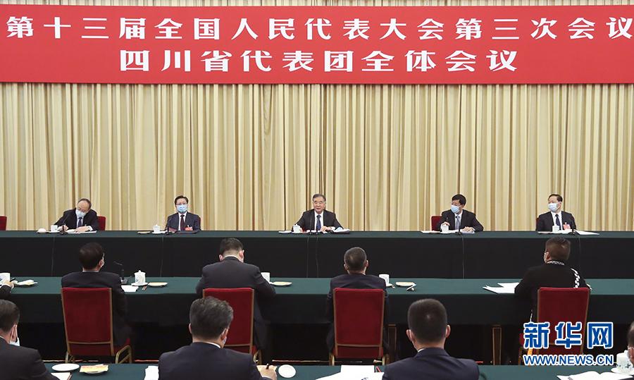 汪洋在参加四川代表团审议时强调 坚定制度自信 增强发展信心 奋力夺取全面建成小康社会伟