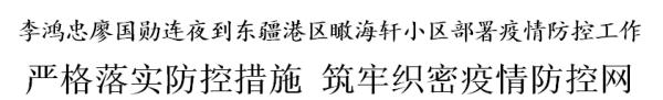 东疆港区一小区又发疫情,李鸿忠廖国勋连夜到现场部署防控措施
