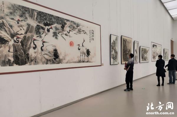 """""""盛世丹青 天津中国画学术提名展""""在天津美术馆开幕"""